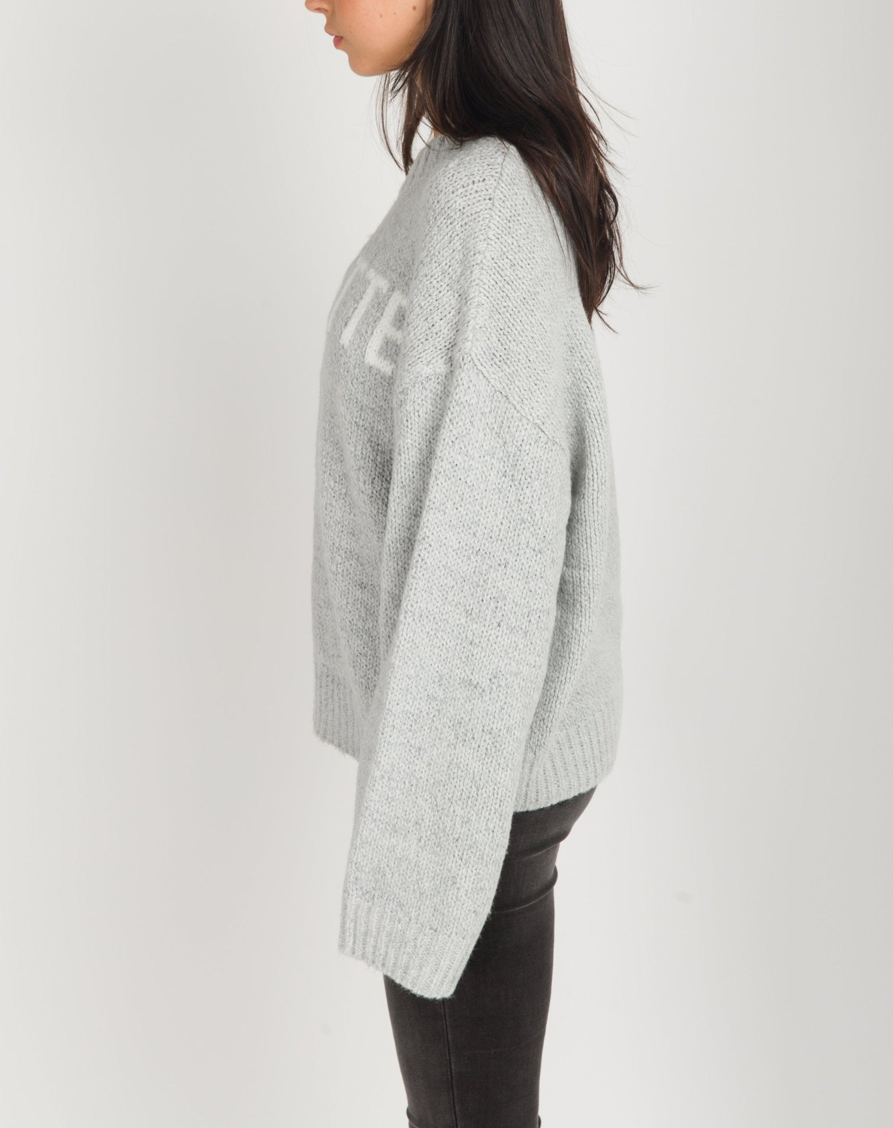 "The ""BRUNETTE"" Knit Sweater 