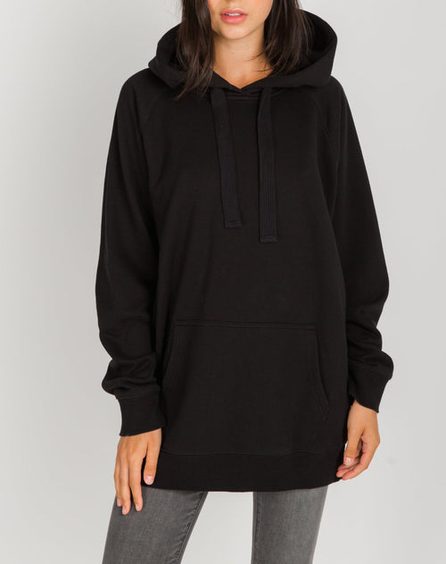 Photo 2 of the Babes Supporting Babes big sister hoodie in black by Brunette the Label.