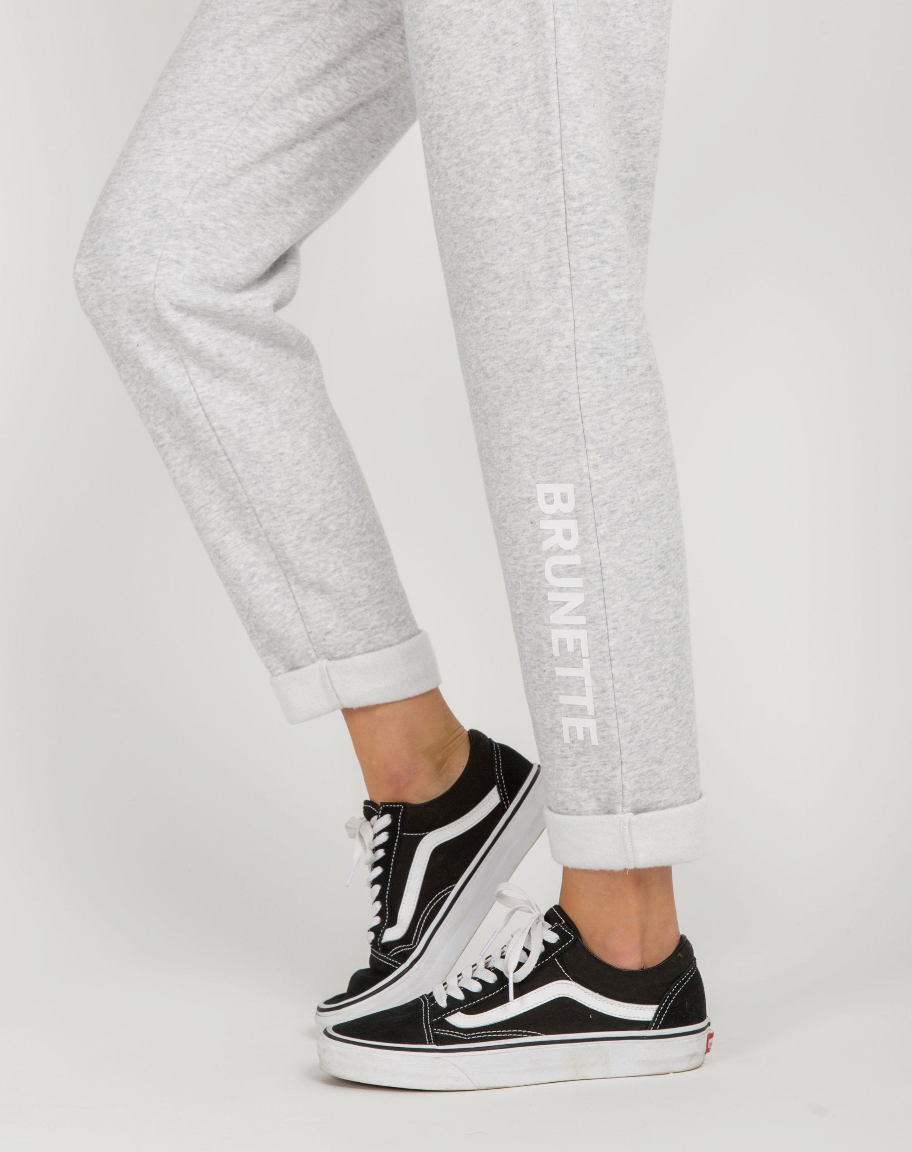 "The ""BRUNETTE"" Rolled Cuff Joggers 