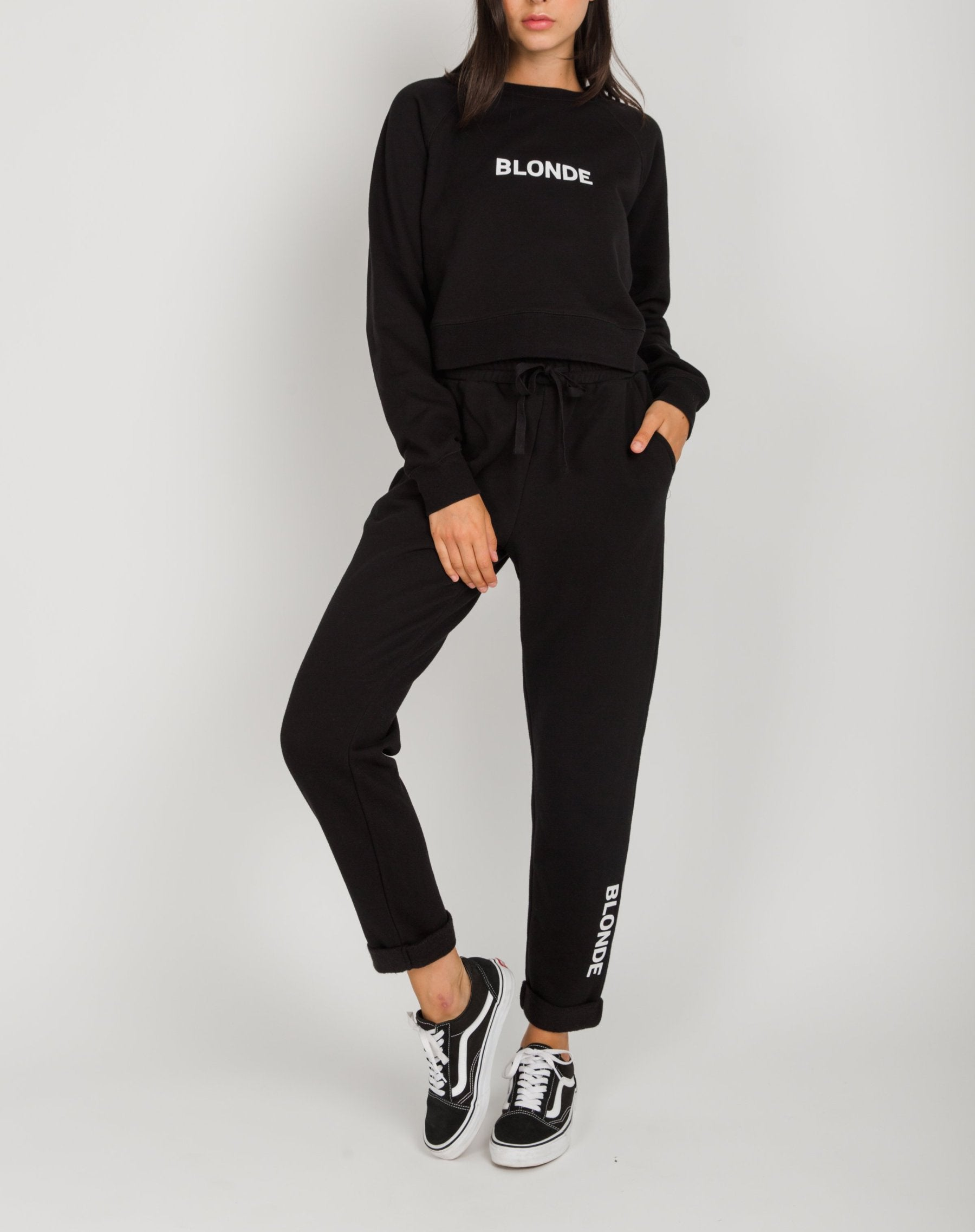 "The ""BLONDE"" Rolled Cuff Joggers 