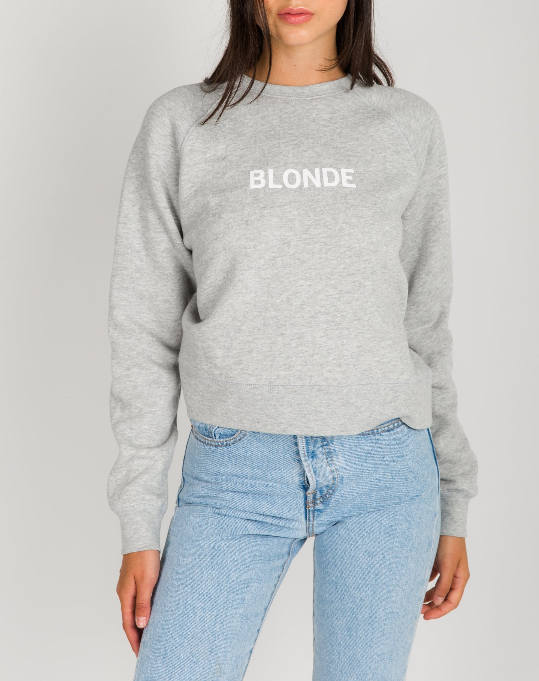 "The ""BLONDE"" Little Sister Crew Neck Sweatshirt 