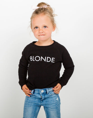 "The ""JET BLACK"" Little Babes Crew Neck Sweatshirt 