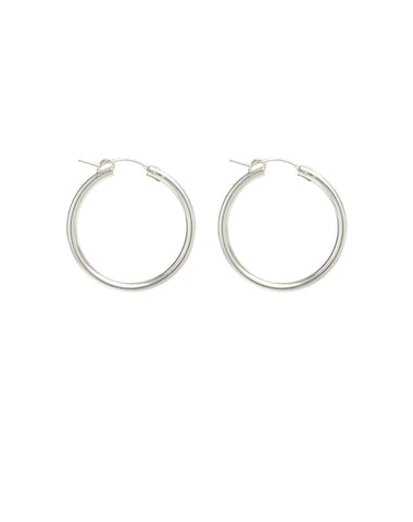"The ""KATE"" Hoops Silver 