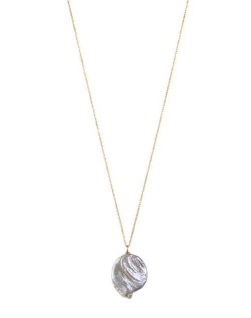 Joelle Necklace in silver by lisbeth.