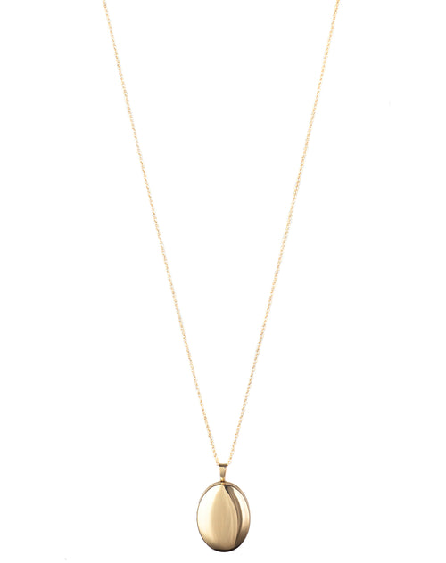 The Locket Necklace in gold by Lisbeth.