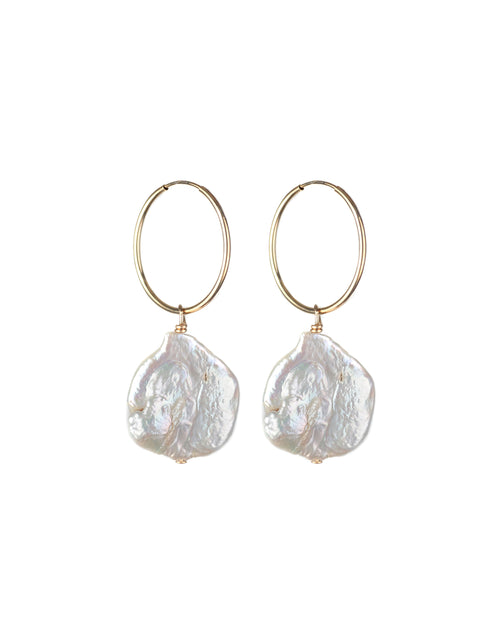 "The ""PERLE"" Pearl Hoop Earrings 