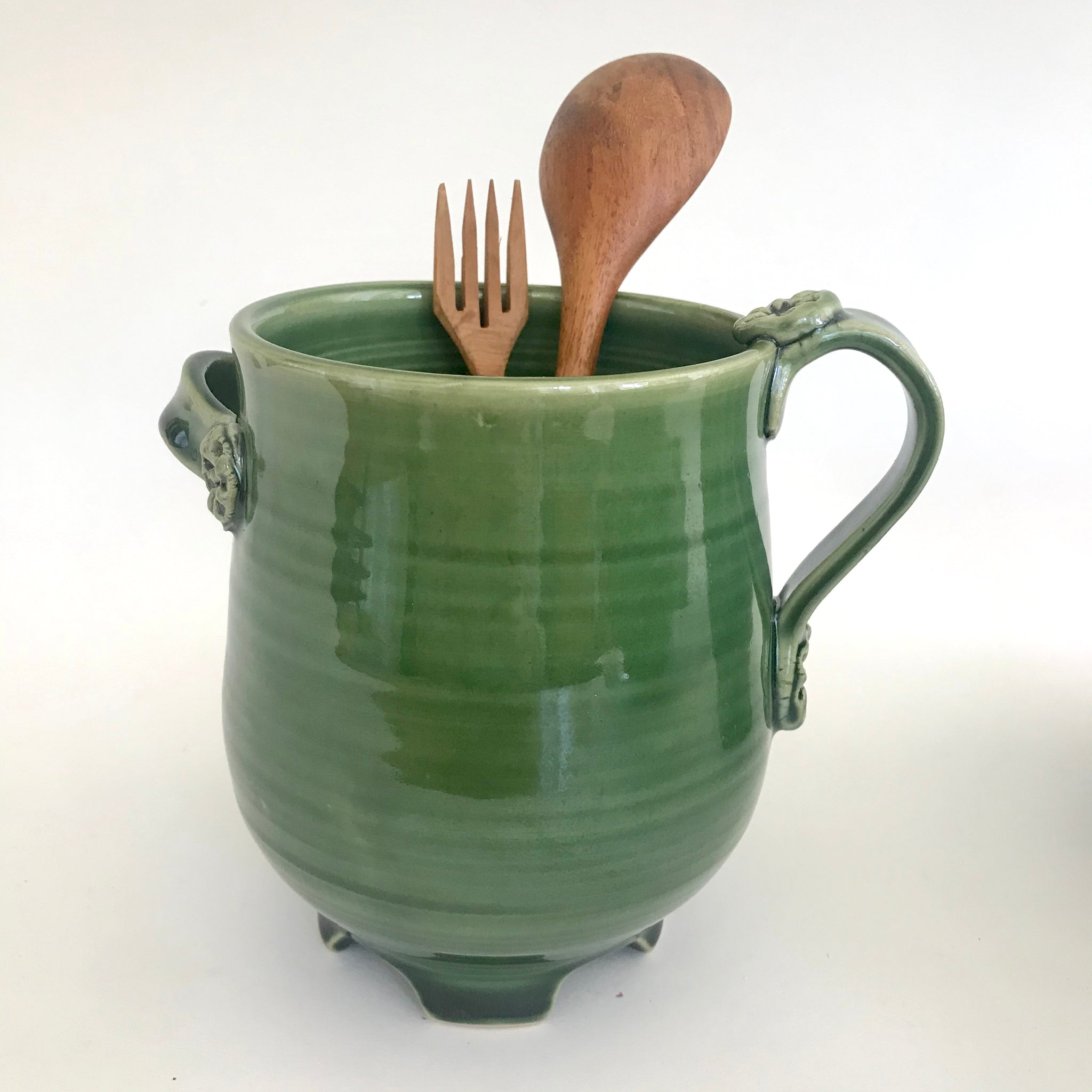 Green Utensil Holder