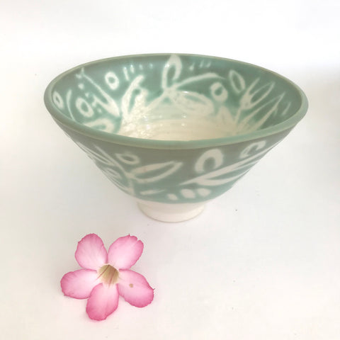 Patterned Green Bowl