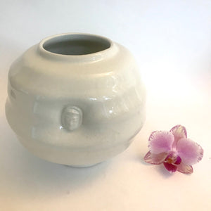 Soft Porcelain Cloud Vase with Small  Buddha Face