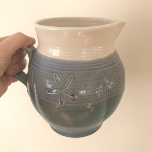 Large Handmade Pitcher with Starfish Design