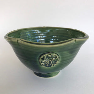 Small Deep Green Serving Bowl