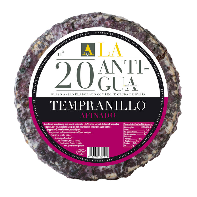 Sheep Milk Cheese with Tempranillo grapes