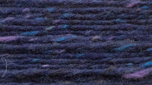 Indlæs billede til gallerivisning Crolly Donegal Aran Tweed (a deep blue/purple tweed, with blue and purple flecks)