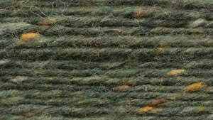Dunglow Donegal Aran Tweed (a dark green with natural flecks)