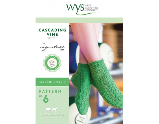 WYS Cascading Vine Socks - Pattern Only