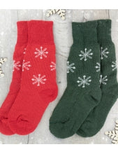 Load image into Gallery viewer, WYS BFL Socks - Snowflake