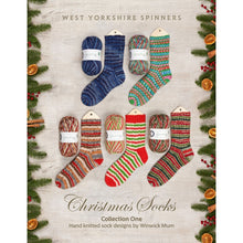 Load image into Gallery viewer, WYS Christmas Socks - Collection One Hand Knitted Sock Designs by Winwick Mum