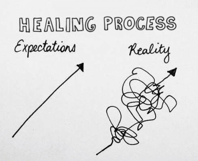 Pssst... healing isn't linear 😌
