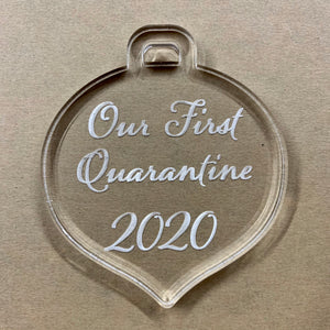 Our First Quarantine Ornament