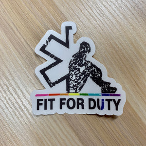 Fit For Duty LGBT Supporter Sticker