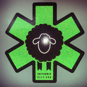 Black Sheep EMS Reflective Sticker - Uniformed Services Peer Council