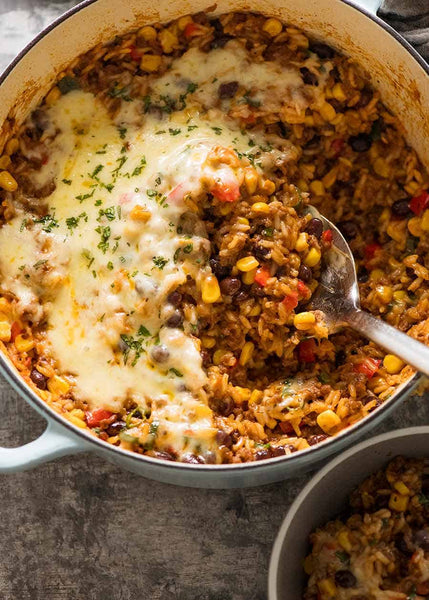 Mexican Ground Beef Casserole Rice