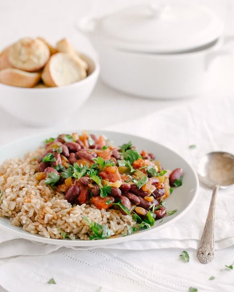 Vegan Red Beans and Fried Rice