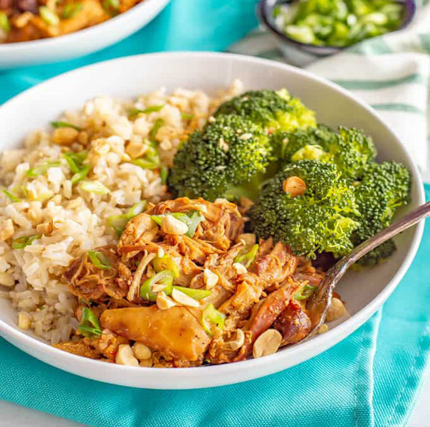 Honey Garlic Chicken Rice Bowl