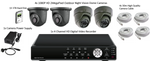 Security System 4 Channel HD DVR, 4 Eyeball Cameras - CCTV Central