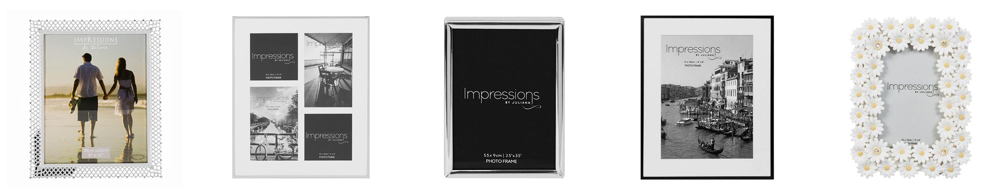 impressions sell multi photo frames, a4 photo frames, gold, silver photo frames and more
