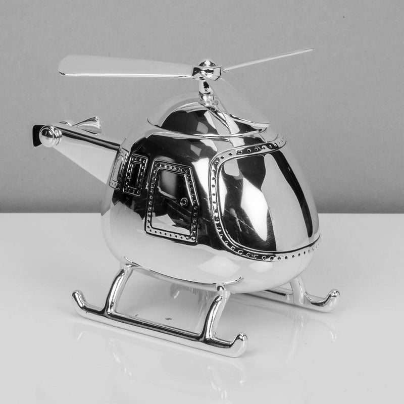BAMBINO BY JULIANA® Silver Plated Helicopter Money Box