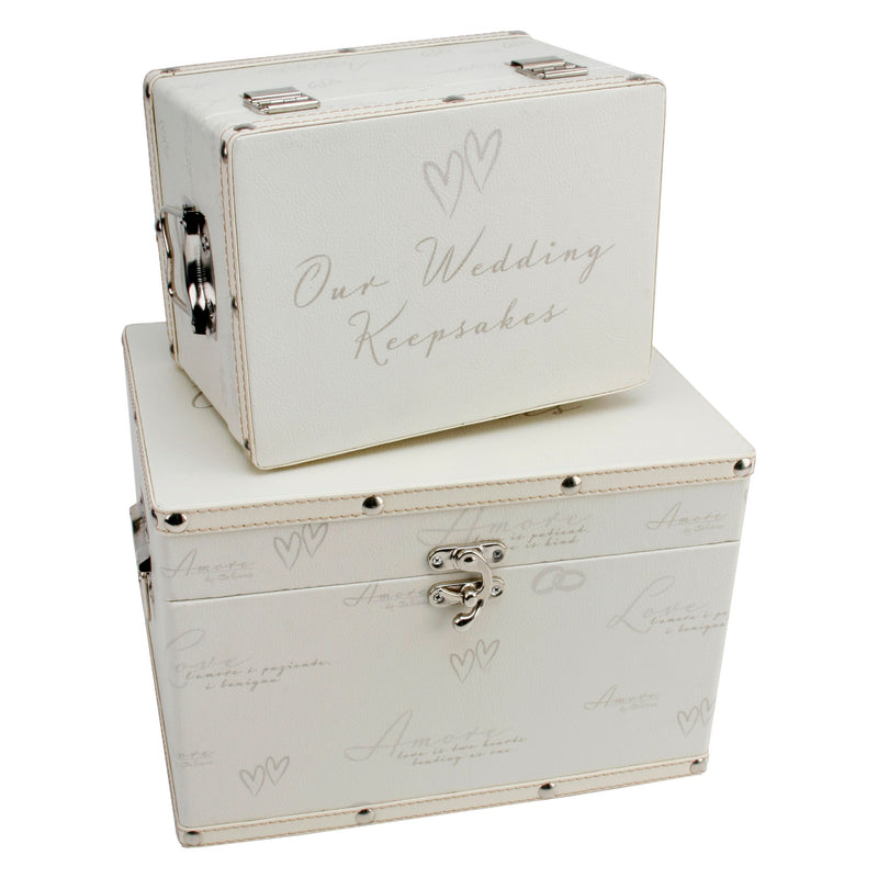 AMORE BY JULIANA® Storage Boxes - Our Wedding Keepsakes