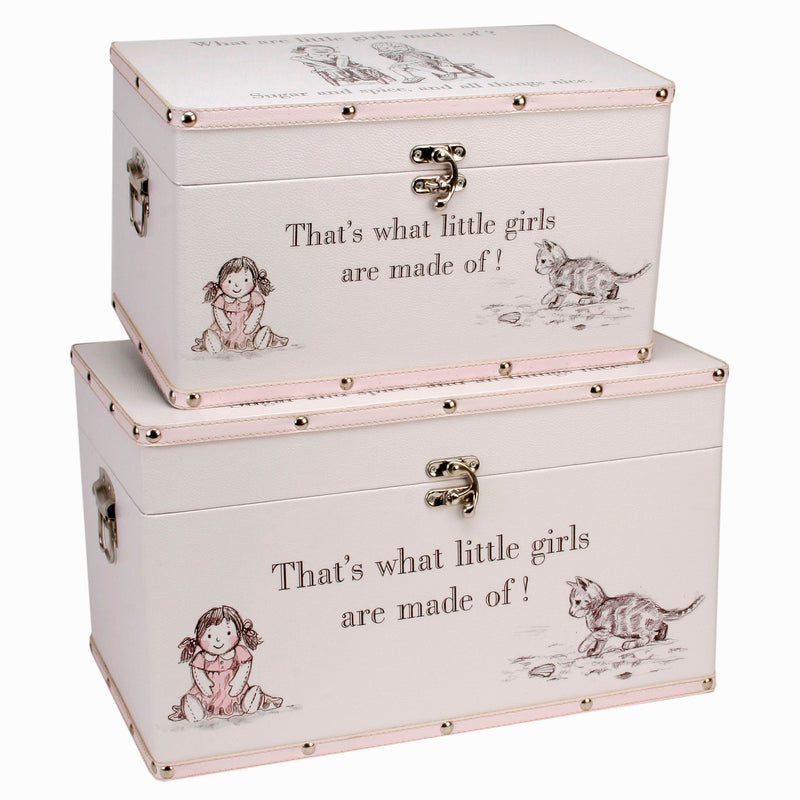 Petit Cheri Little Girls Set of 2 Luggage Boxes