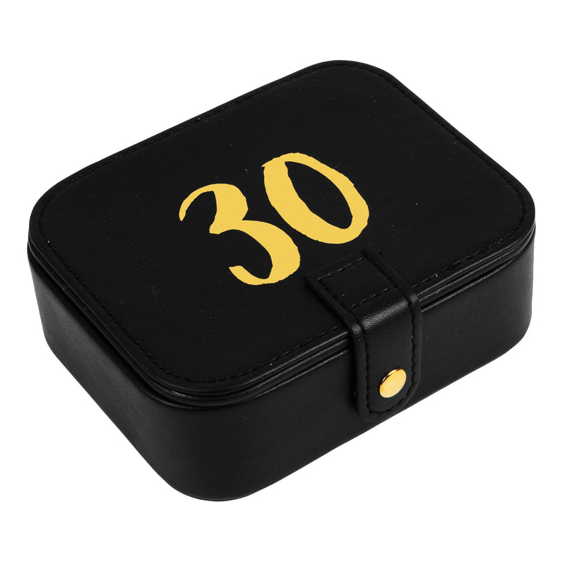 Signography Black Leatherette & Gold Foil Jewellery Box - 30