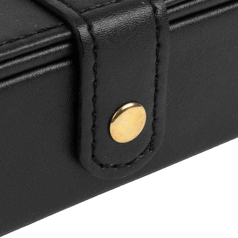 Signography Black Leatherette & Gold Foil Jewellery Box - 60