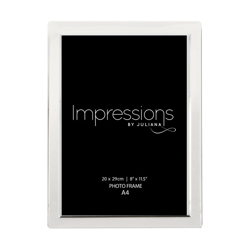 A4 - Impressions Silver Plated Photo Frame Flat Edge