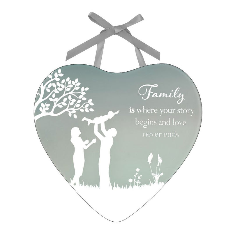 Reflections Of The Heart Family Plaque