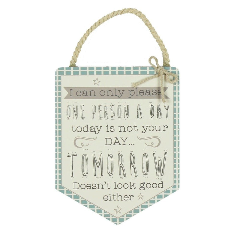 Love Life Please One Person Pendant Plaque