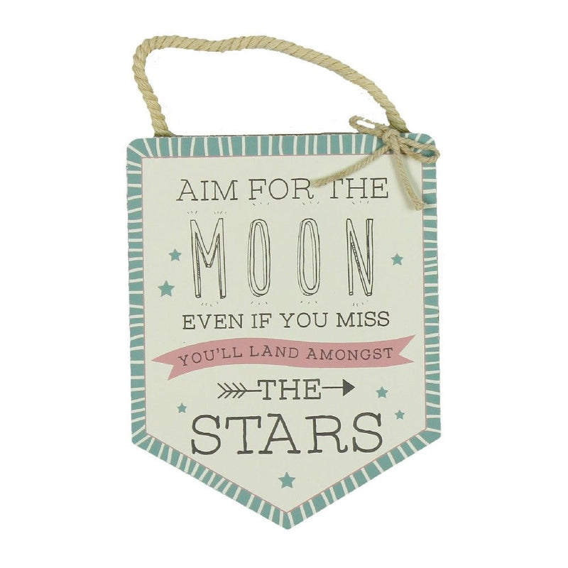 Love Life Aim For The Moon Pendant Plaque