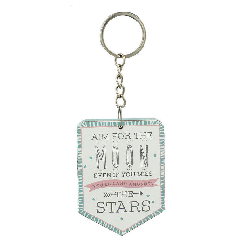 Love Life Keyring  Aim For The Moon