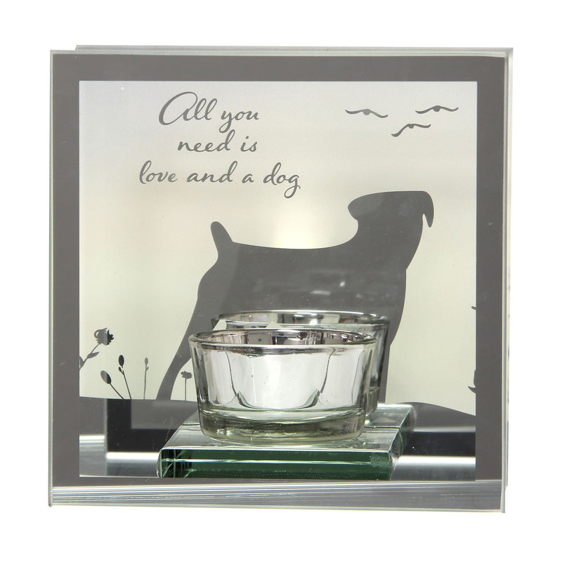 Reflections Of The Heart Mirror Tealight Holder - Dog