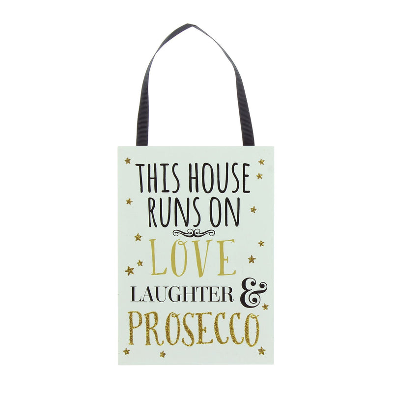 Signography Sparkling Prosecco MDF Plaque - This House