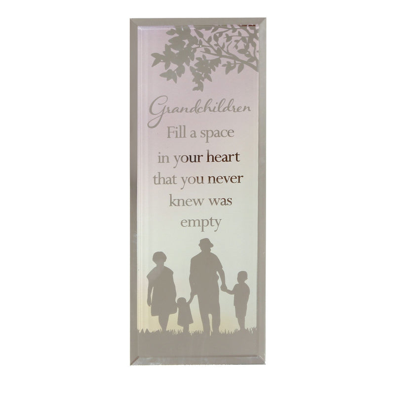Reflections Of The Heart Grandchildren Standing Plaque