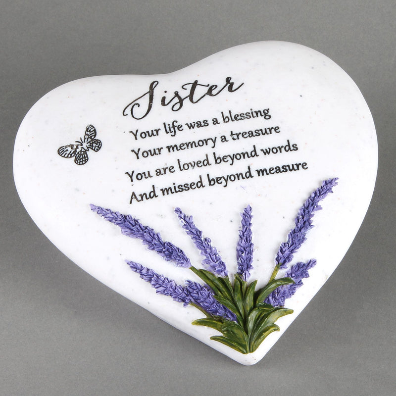 Thoughts Of You 'Sister' Memorial Heart Stone
