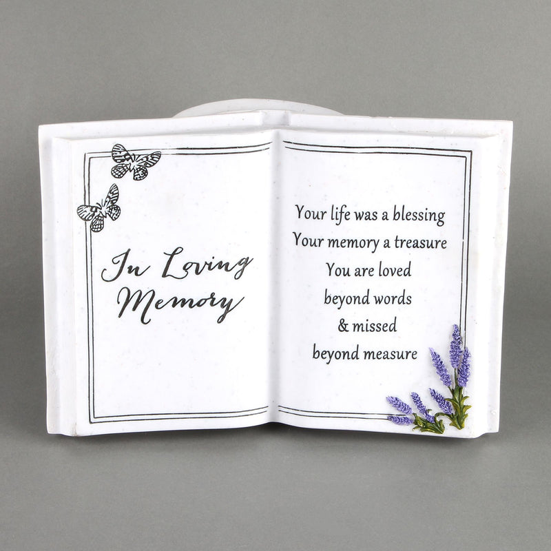 Thoughts Of You 'In Loving Memory' Graveside Book Vase