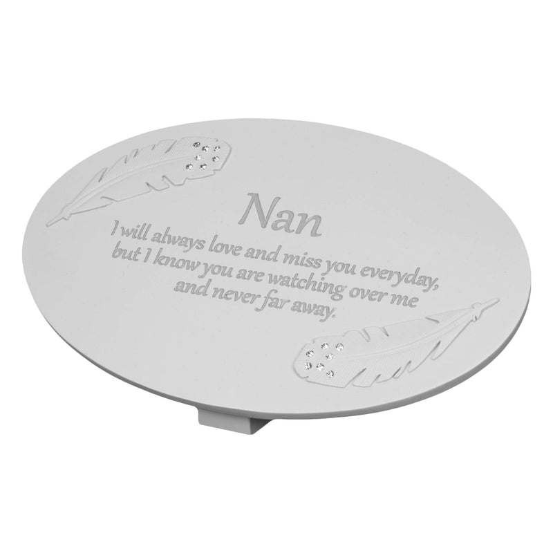 Thoughts of You Memorial Plaque - Nan