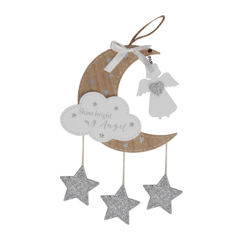 Thoughts of You Hanging Moon Plaque - Shine Bright My Angel