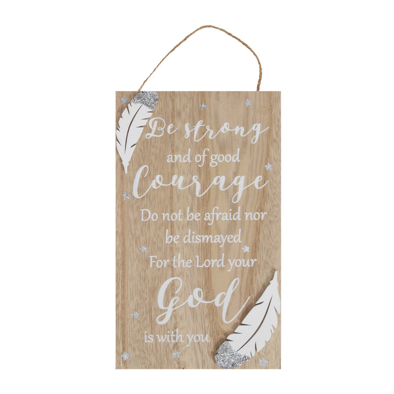 Thoughts of You Rectangle Plaque - Courage