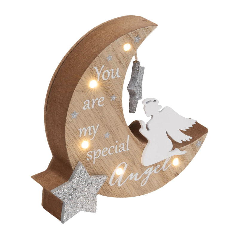 Thoughts of You LED Moon Plaque - Special Angel