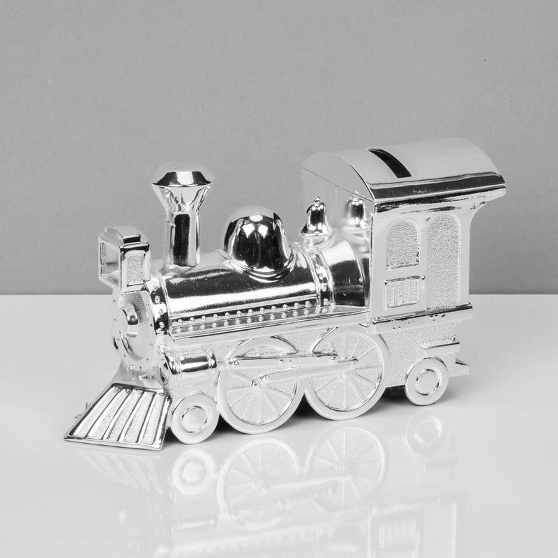 Bambino Silver Plated Train Money Box